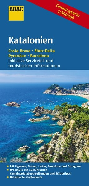 ADAC Campingkarte Katalonien | 1. Auflage, 2016 (Cover)