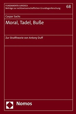 Abbildung von Sachs | Moral, Tadel, Buße | 1. Auflage | 2016 | beck-shop.de