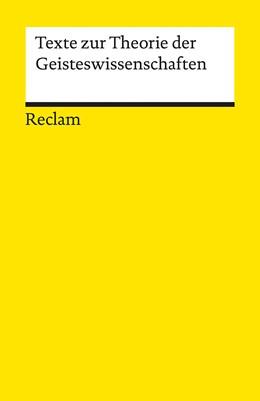 Abbildung von Panteos / Rojek | Texte zur Theorie der Geisteswissenschaften | 1. Auflage | 2016 | 19353 | beck-shop.de