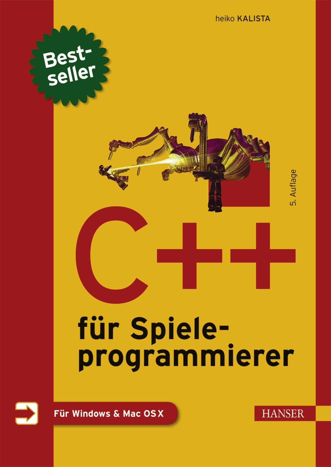 C++ für Spieleprogrammierer   Kalista   5., aktualisierte und erweiterte Auflage, 2016   Buch (Cover)