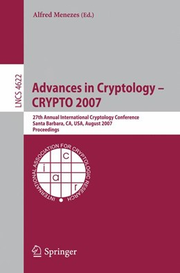 Abbildung von Menezes | Advances in Cryptology - CRYPTO 2007 | 1. Auflage 2007 | 2007 | 27th Annual International Cryp...