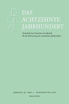 Das achtzehnte Jahrhundert, 2016 (Cover)