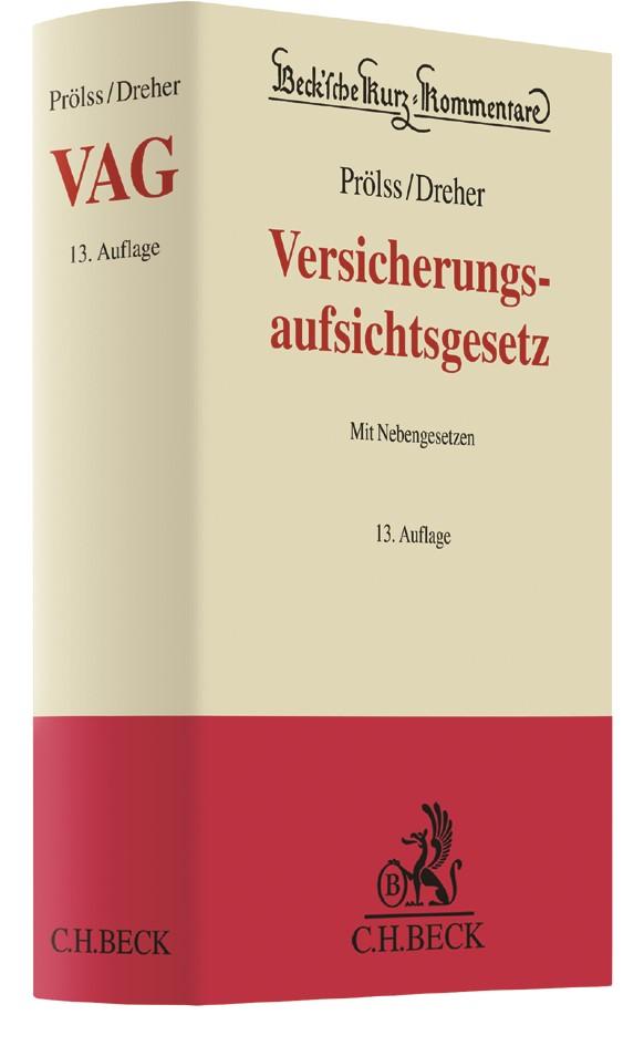 Versicherungsaufsichtsgesetz: VAG | Prölss / Dreher | 13., vollständig überarbeitete Auflage, 2018 | Buch (Cover)