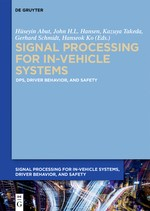 Vehicle Systems and Driver Modelling | Abut / Hansen / Schmidt / Takeda / Ko, 2017 | Buch (Cover)