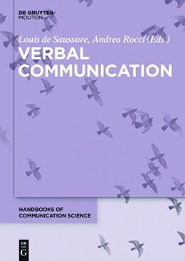 Abbildung von Saussure / Rocci | Verbal Communication | 2016