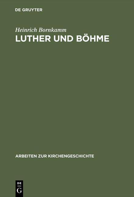 Abbildung von Bornkamm | Luther und Böhme | Reprint 2015 | 1925