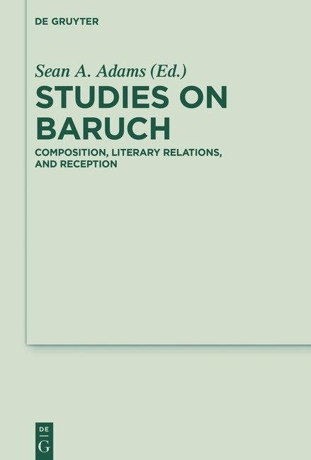 Studies on Baruch | Adams, 2016 | Buch (Cover)