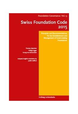 Abbildung von Sprecher / Egger   Swiss Foundation Code 2015   1. Auflage   2016   Volume 13   beck-shop.de