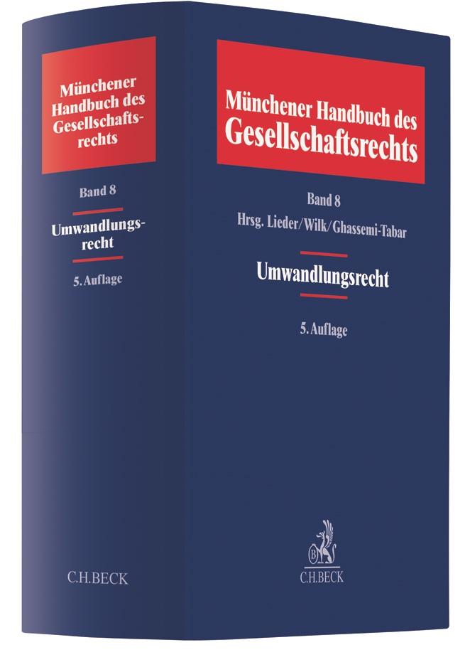 Münchener Handbuch des Gesellschaftsrechts, Band 8: Umwandlungsrecht | 5. Auflage, 2018 | Buch (Cover)