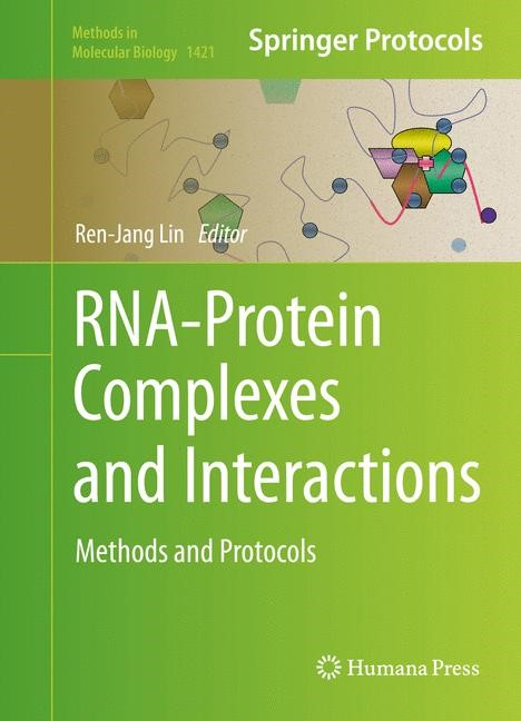 RNA-Protein Complexes and Interactions | Lin | 1st ed. 2016, 2016 | Buch (Cover)