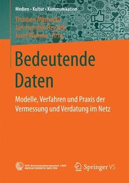 Abbildung von Mämecke / Passoth   Bedeutende Daten   1. Auflage   2017   beck-shop.de