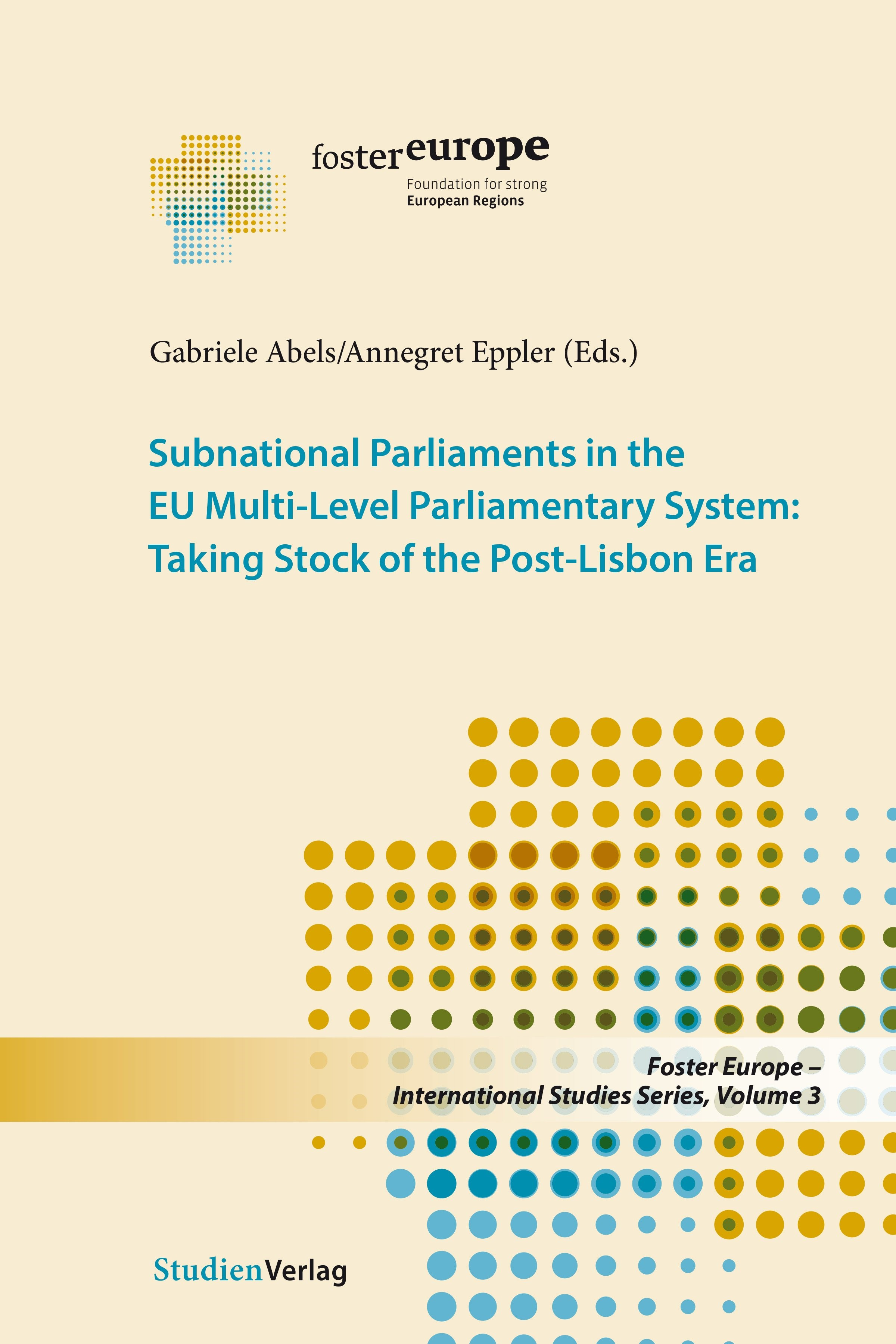 Subnational Parliaments in the Eu Multi-Level Parliamentary System | Abels / Eppler, 2018 | Buch (Cover)