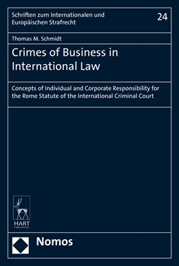Abbildung von Schmidt | Crimes of Business in International Law | 2016 | Concepts of Individual and Cor... | 24