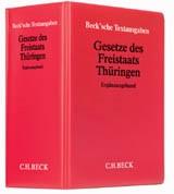 Abbildung von Gesetze des Freistaats Thüringen Ergänzungsband  Hauptordner 72 mm • 1 Ersatzordner (leer)