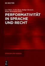 Abbildung von Bülow / Bung / Harnisch / Wernsmann   Performativität in Sprache und Recht   2016