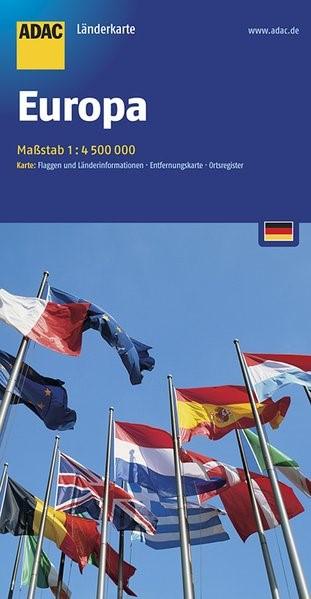 ADAC Länderkarte Europa 1:4 500 000 | 1. Auflage, 2018 (Cover)