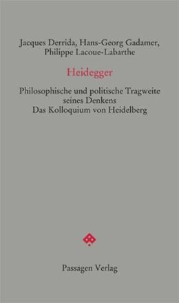 Abbildung von Derrida / Calle-Gruber / Gadamer | Heidegger | 2016 | Philosophische und politische ...