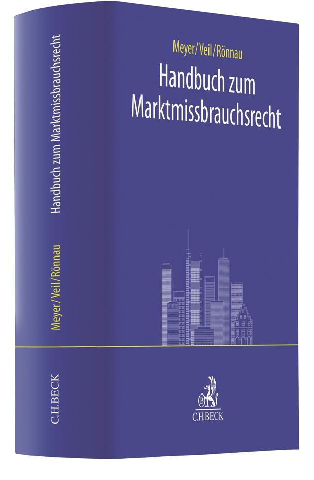 Handbuch zum Marktmissbrauchsrecht | Meyer / Veil / Rönnau, 2018 | Buch (Cover)