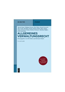 Abbildung von Ehlers / Pünder   Allgemeines Verwaltungsrecht   15. Auflage   2015   beck-shop.de