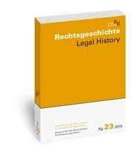 Rechtsgeschichte. Zeitschrift des Max Planck-Instituts für Europäische Rechtsgeschichte / Rechtsgeschichte Legal History (Rg) | Duve | 1., 2015, 2015 | Buch (Cover)