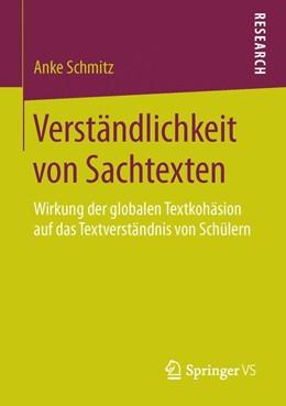 Abbildung von Schmitz | Verständlichkeit von Sachtexten | 2015 | Wirkung der globalen Textkohäs...