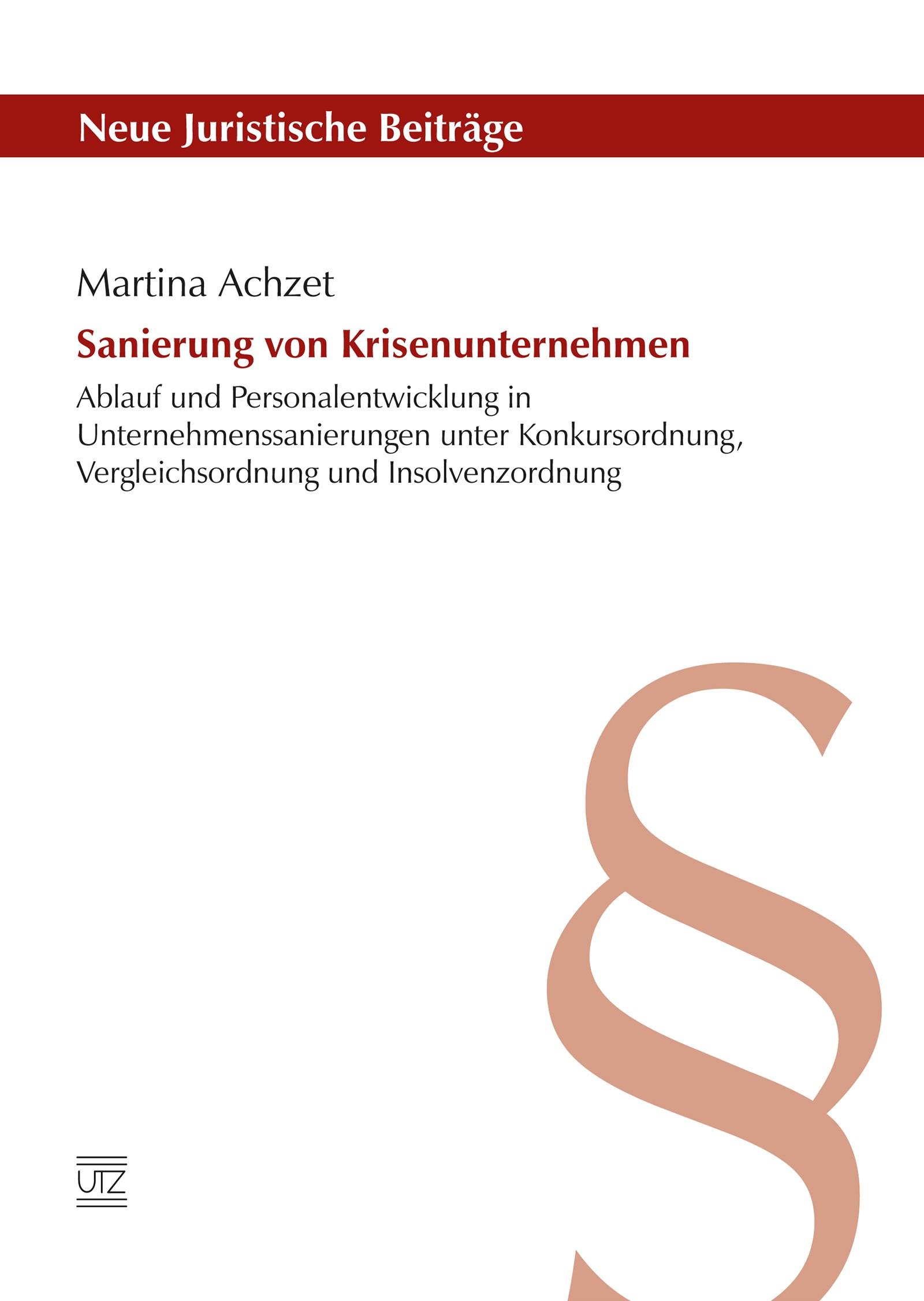 Sanierung von Krisenunternehmen   Achzet, 2016   Buch (Cover)
