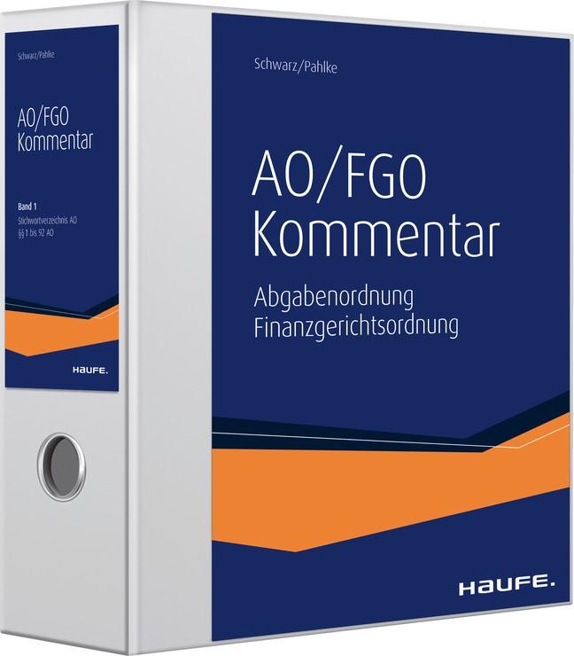 Schwarz/Pahlke AO/FGO Kommentar plus Onlinezugang   Schwarz / Pahlke (Hrsg.)   Loseblattwerk mit 182. Aktualisierung (Cover)