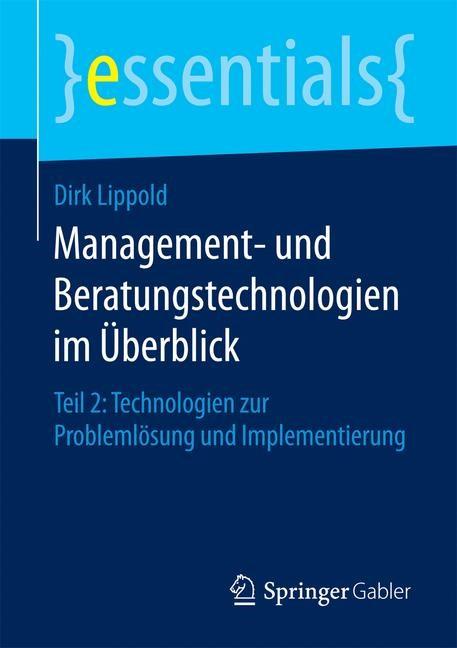 Management- und Beratungstechnologien im Überblick | Lippold, 2016 | Buch (Cover)