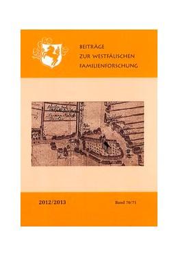 Abbildung von Wunschhofer / Linde | Beiträge zur westfälischen Familienforschung | 2015 | Band 70/71 2012/2013
