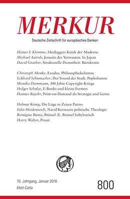 Abbildung von Demand   MERKUR Deutsche Zeitschrift für europäisches Denken   1. Auflage   2016   beck-shop.de