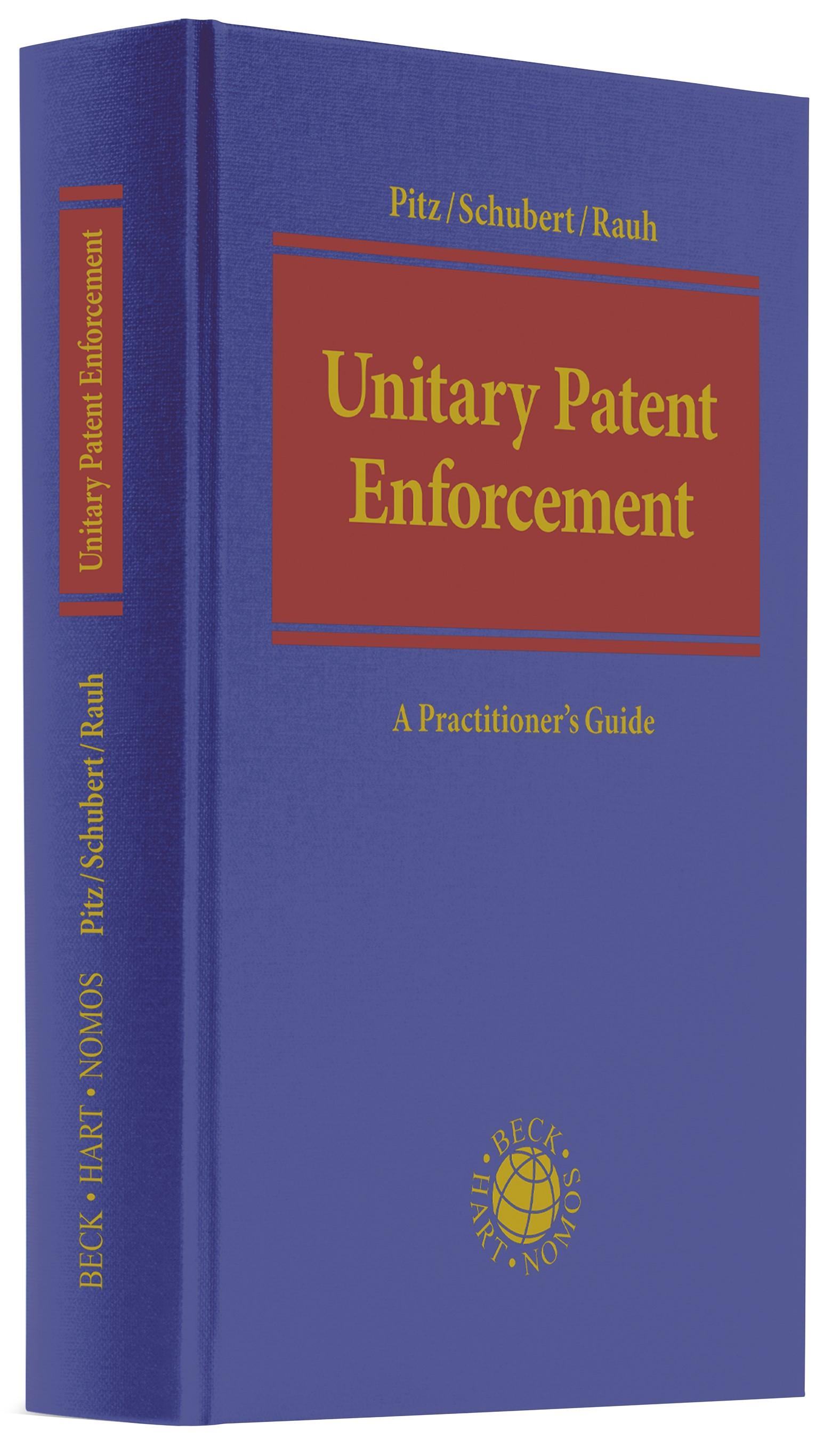 Unitary Patent Enforcement | Pitz / Schubert / Rauh, 2019 | Buch (Cover)