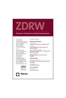 Abbildung von Zeitschrift für Didaktik der Rechtswissenschaft • ZDRW | 6. Jahrgang | 2019