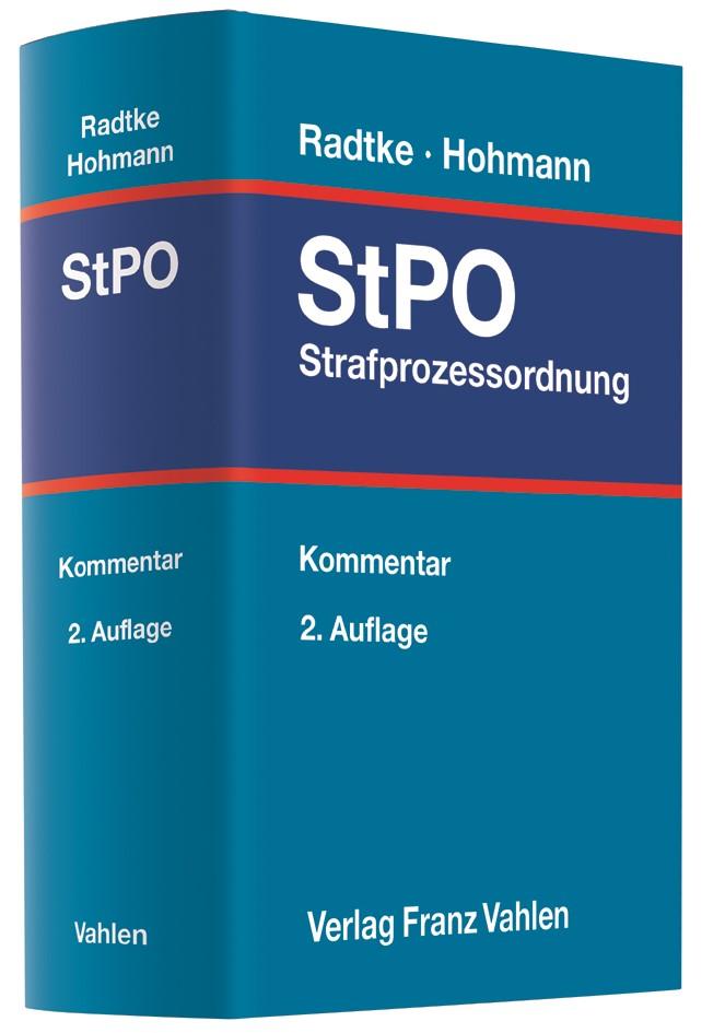 Abbildung von Radtke / Hohmann   Strafprozessordnung: StPO   2. Auflage   2020
