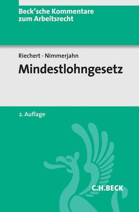 Mindestlohngesetz: MiLoG | Riechert / Nimmerjahn | 2. Auflage, 2017 | Buch (Cover)