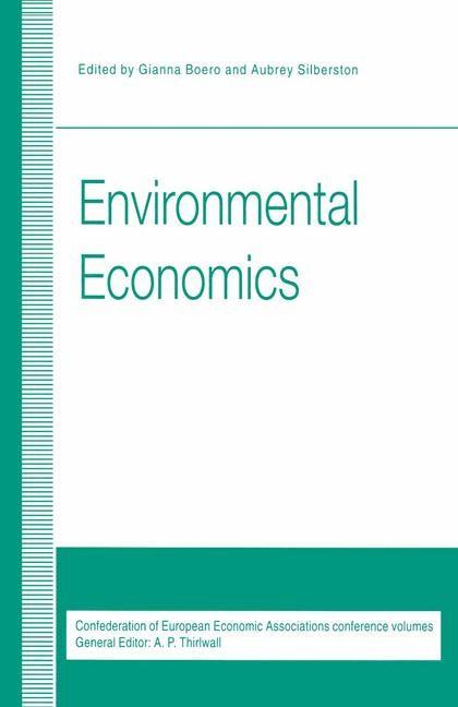 Abbildung von Boero / Silberston   Environmental Economics   1st ed. 1995   1995