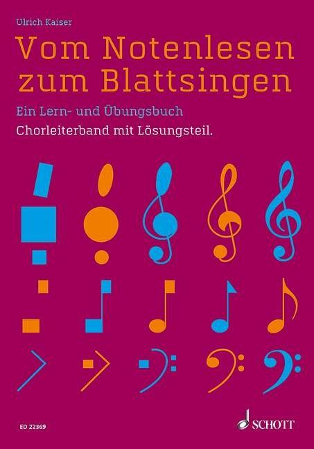 Vom Notenlesen zum Blattsingen | Kaiser, 2019 | Buch (Cover)
