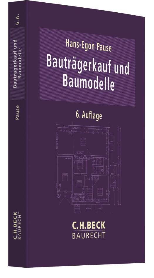 Bauträgerkauf und Baumodelle | Pause | 6. Auflage, 2018 | Buch (Cover)
