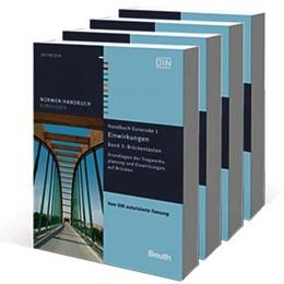 Abbildung von DIN e.V.   Handbücher Eurocode 1 bis 4: Brücken   2. Auflage   2016   Paket