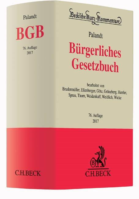 Bürgerliches Gesetzbuch: BGB   Palandt   Buch (Cover)