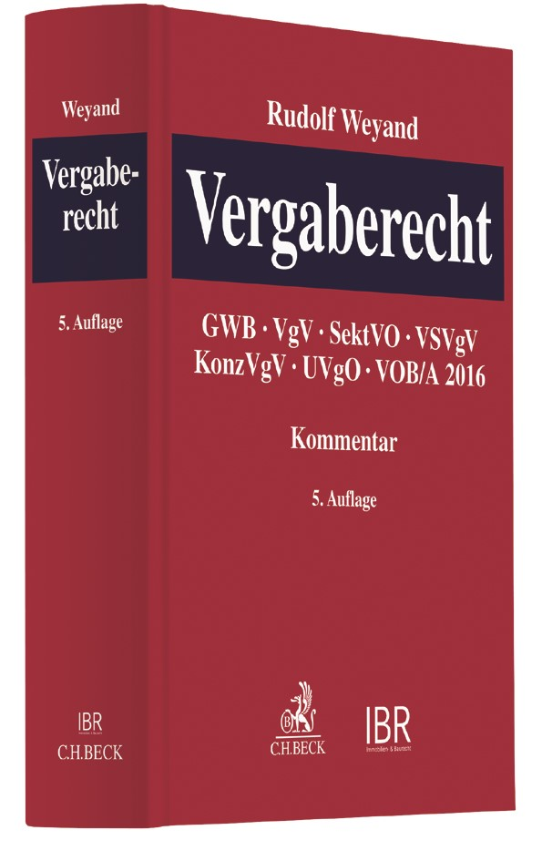 Vergaberecht | Weyand | 5. Auflage, 2019 | Buch (Cover)