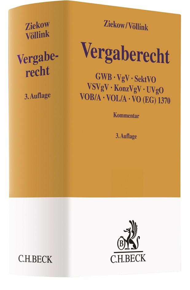 Vergaberecht | Ziekow / Völlink | 3., völlig neu bearbeitete und erweiterte Auflage, 2018 | Buch (Cover)