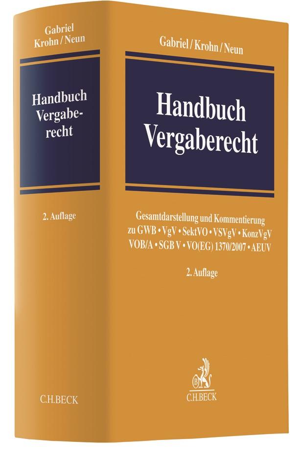 Handbuch Vergaberecht | Gabriel / Krohn / Neun | Buch (Cover)
