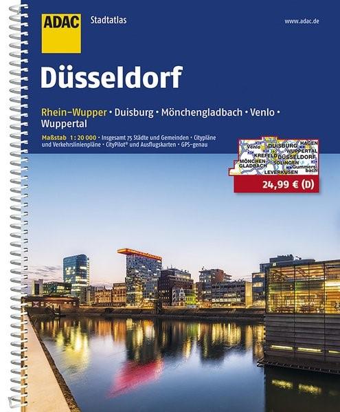 ADAC Stadtatlas Düsseldorf/Rhein-Wupper mit Duisburg, Mönchengladbach, Venlo 1 : 20 000 | 8. Auflage, 2016 | Buch (Cover)