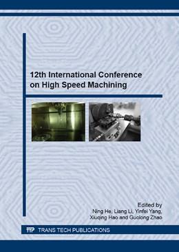 Abbildung von He / Li   12th International Conference on High Speed Machining   1. Auflage   2016   Volumes 836-837   beck-shop.de