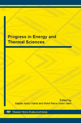 Abbildung von Abdul Wahid / Mohd Yasin | Progress in Energy and Thermal Sciences | 2016 | Collection of selected, peer r... | Volume 818