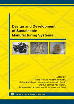 Abbildung von Al Bakri Abdullah / Abd Razak | Design and Development of Sustainable Manufacturing Systems | 1. Auflage | 2015 | Volume 815 | beck-shop.de
