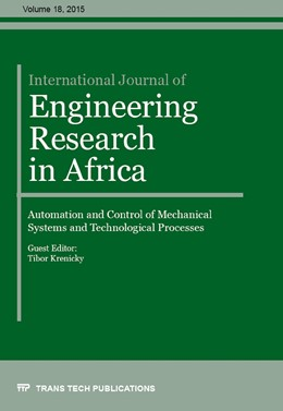 Abbildung von Krenický | International Journal of Engineering Research in Africa Vol. 18 | 2015 | Collection of selected, peer r...