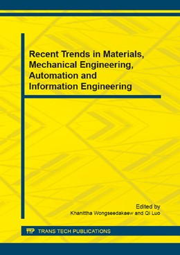 Abbildung von Wongseedakaew / Luo | Recent Trends in Materials, Mechanical Engineering, Automation and Information Engineering | 2015 | Collection of selected, peer r... | Volume 736