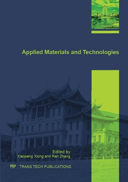 Abbildung von Xiong / Zhang | Applied Materials and Technologies | 2015 | Collection of selected, peer r... | Volume 833