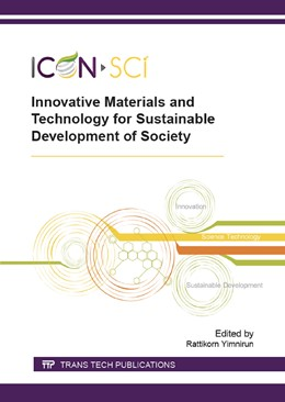 Abbildung von Yimnirun   Innovative Materials and Technology for Sustainable Development of Society   2015   Collection of selected, peer r...   Volume 804